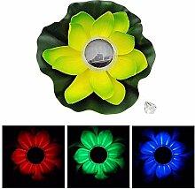 Lotus Licht, schwimmende Teich Dekor Solar Lotus