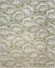 Lotus Teppich in Olive & Rosa von Knots Rugs