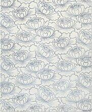 Lotus Teppich in Silber von Knots Rugs