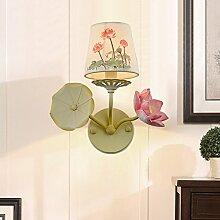 Lotus Wandleuchte Moderne Dekorative Schlafzimmer Wohnzimmer Nacht Korridor Restaurant Den Büro Hotel Eisen Kreative Spiegel Scheinwerfer Leinen Lampenschirm (E14 Ausgenommen Lichtquelle)