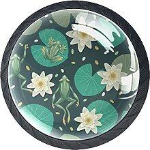 Lotusblattfrosch Kristallglas Kommode Schublade