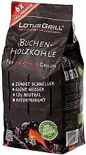 LotusGrill Buchenholzkohle 1 kg Sack, Mehrfarbig,