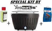 LOTUSGRILL NEW KIT by YESEATIS 2017 - Tabelle Grill + Ignition Kit Charcoal Hochleistungs und Gele - SCHWARZ