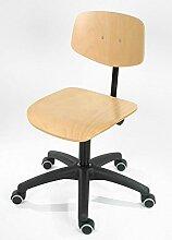 Lotz Arbeitsdrehstuhl 6130.12, Sitz und Rücken Buche