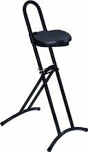 LOTZ Stehhilfe Gestell silber Sitz schwarz Raster-Höhenverstellung