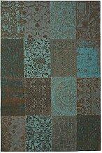 Louis de Poortere Teppich Vintage Sea Blau