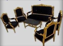 LouisXV Barock Antik Stil Stil Salon 4 Sessel 1