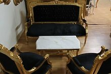 LouisXV Barock Salon Antik Stil 4 Sessel 1 Sofa 1