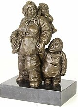 LouisXV Bronze Gruppe Figur Mutter mit Kindern