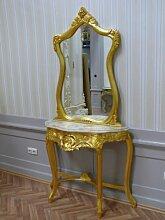 LouisXV Spiegel Konsole Barock mit Marmor-Platte
