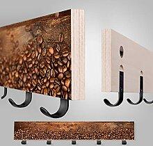 LouMaxx Garderobenleiste Design - Hakenleiste Holz