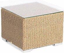 Lounge-Beistelltisch Residence Hyazinthoptik 60x60 cm mit Glasp