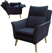 Lounge-Relax-Sessel skandinavisch + Hocker als