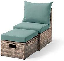 Lounge-Sessel mit Fußteil