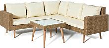 Lounge-Set Bea 3tlg., braun (Gr.1)