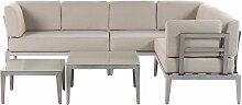 Lounge Set Beige Taupe Aluminium Garten Set