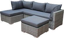 Lounge - Set VILETTA, Aluminium + Polyrattan