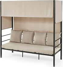 Lounge-Sofa Ruben, schwarz (Gr.1)
