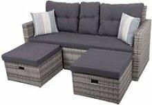 Lounge-Sofa VALENCIA-120 B/H/T ca. 180x86x75cm
