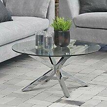 lounge-zone Design Couchtisch Glastisch Star,