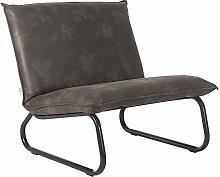 Loungechair Sessel YARRA Leder Relaxsessel Fernsehsessel Loungesessel (grau)