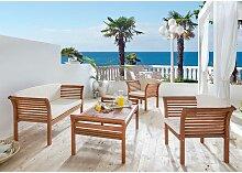 Loungemöbel Sitzgruppe Loungeset aus Eukalyptus