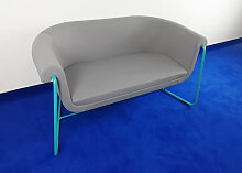 Loungesofa Profim Hover 2-Sitzer grau türkis