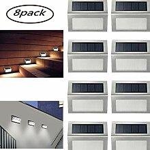 Louvra 8 Pack Solar Wandleuchte LED Solarleuchte