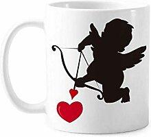 Love Amor Engel Herz Muster Tasse Keramik Kaffee