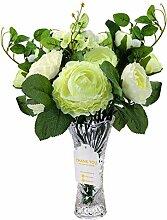 Love Bloom Blumenstrauß Künstlich Weiß mit Glas