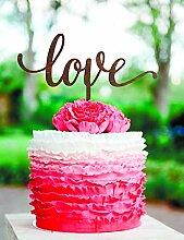 Love Cake Topper Gold Hochzeit Cake Topper Love