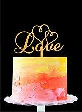 Love Cake Topper Love Wedding Cake Topper