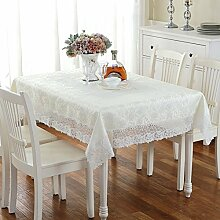 LOVE Europäische Stoff Tischdecke,Aus Weißer