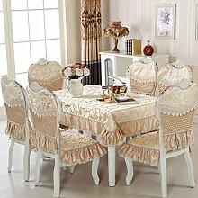 LOVE Europäische Tischdecke,Kissen Und Bezüge