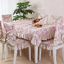 LOVE Europäische Tischdecke,Stuhlhussen Kissen