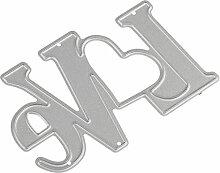 Love Form Metall schneiden stirbt Schablone DIY