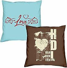 Love Hab Dich lieb zum Valentinstag, Muttertag, Vatertag, Kissen, Dekokissen, Geschenkidee für Sie und Ihn