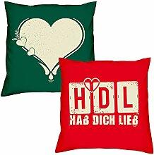Love Herz HDL Hab Dich lieb zum Valentinstag,