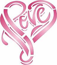 Love Herz Schablone-wiederverwendbar Große
