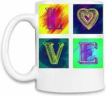 Love Kaffee Becher