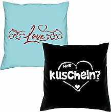 Love kuscheln zum Valentinstag, Muttertag, Vatertag, Kissen, Dekokissen, Geschenkidee für Sie und Ihn