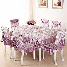 LOVE Ländliche Tischdecke,Gedeckter Tisch,Tisch