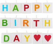 LOVE LETTERS Kerze Happy Birthday 15 tlg.