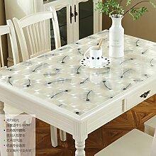 LOVE PVC Couchtisch Ovale Tischdecke,Wasserdichte
