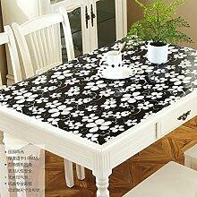 LOVE PVC Couchtisch Ovale Tischdecke,Wasserdichte Heißen Milchglas, Tischdecke,Frosted Kunststoff Tischdecke-M 70x120cm(28x47inch)