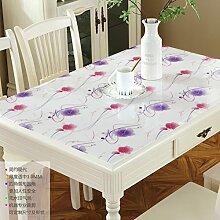 LOVE PVC Couchtisch Ovale Tischdecke,Wasserdichte Heißen Milchglas, Tischdecke,Frosted Kunststoff Tischdecke-Q 76x120cm(30x47inch)