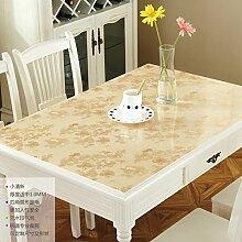LOVE PVC Couchtisch Ovale Tischdecke,Wasserdichte Heißen Milchglas, Tischdecke,Frosted Kunststoff Tischdecke-J 95x150cm(37x59inch)