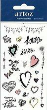 Love Romance Notizbuch-Sticker, selbstklebend,