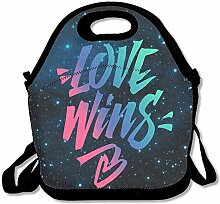 Love Wins Lunch Bag Tote Handbag Lunchbox For