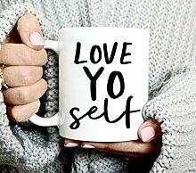 Love Yo Self Mug - Beautiful - Cute Coffee Mug -